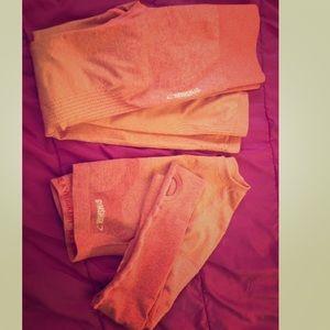 Gymshark ombré seamless peach/orange